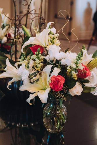Flowers courtesy of Chris Floral Designs